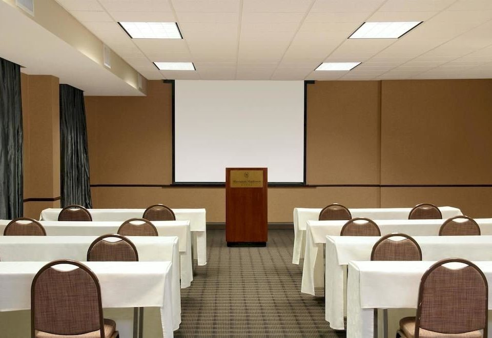 conference hall function hall auditorium meeting restaurant convention center classroom conference room