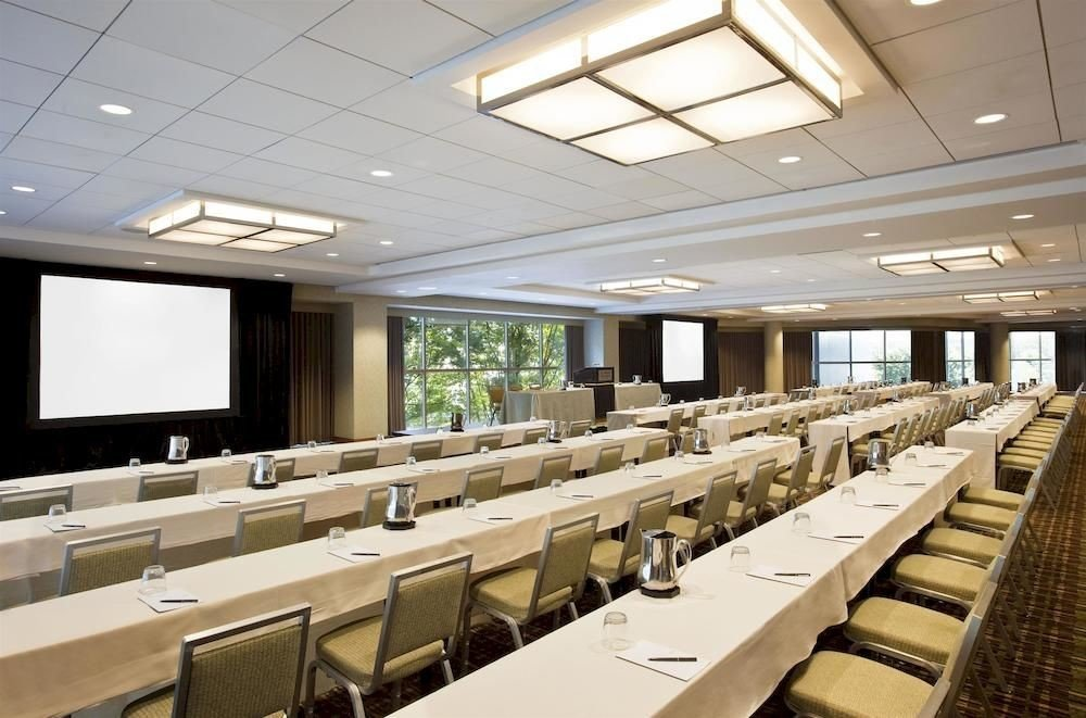 auditorium conference hall function hall convention center long classroom lined conference room