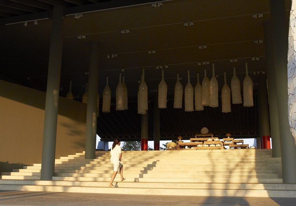 lighting auditorium temple colonnade