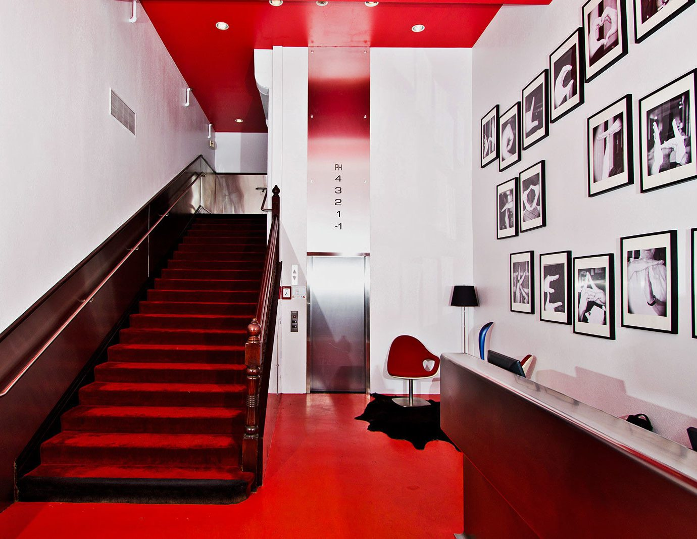 red sport venue auditorium