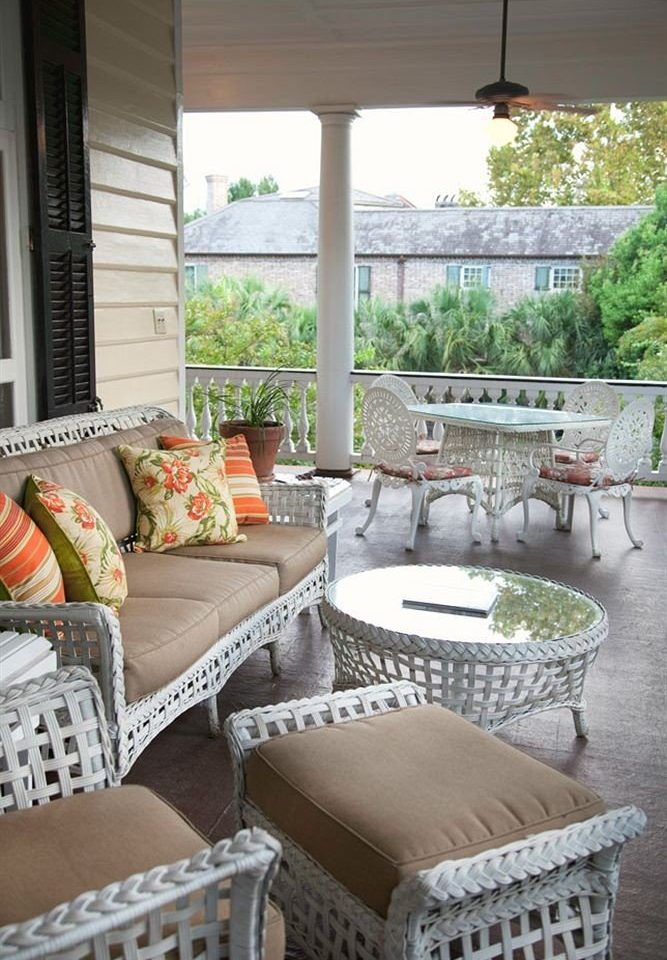 B&B Deck Historic property porch living room home outdoor structure backyard Patio Balcony cottage yard