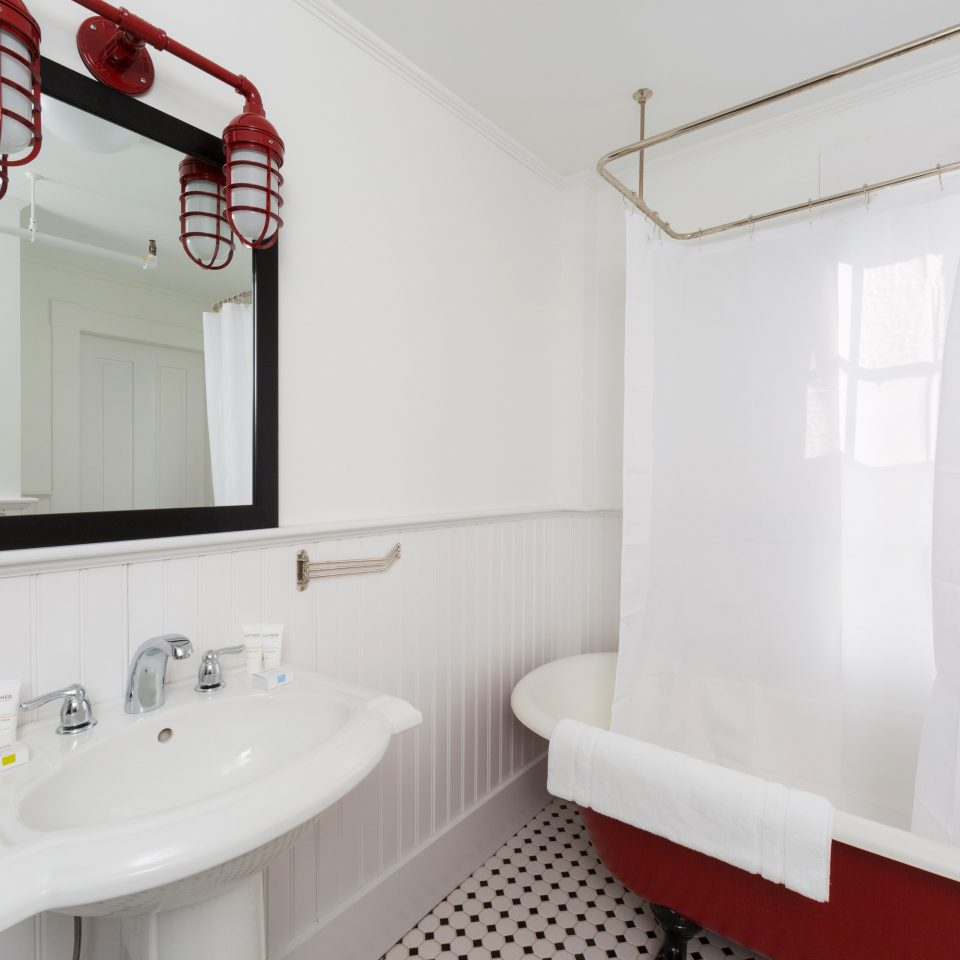 B&B Bath Boutique Budget bathroom property toilet white sink home cottage tile tub bathtub tiled