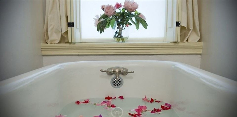 B&B Bath Historic bathroom bathtub sink vessel plumbing fixture white swimming pool flower flooring tub water basin