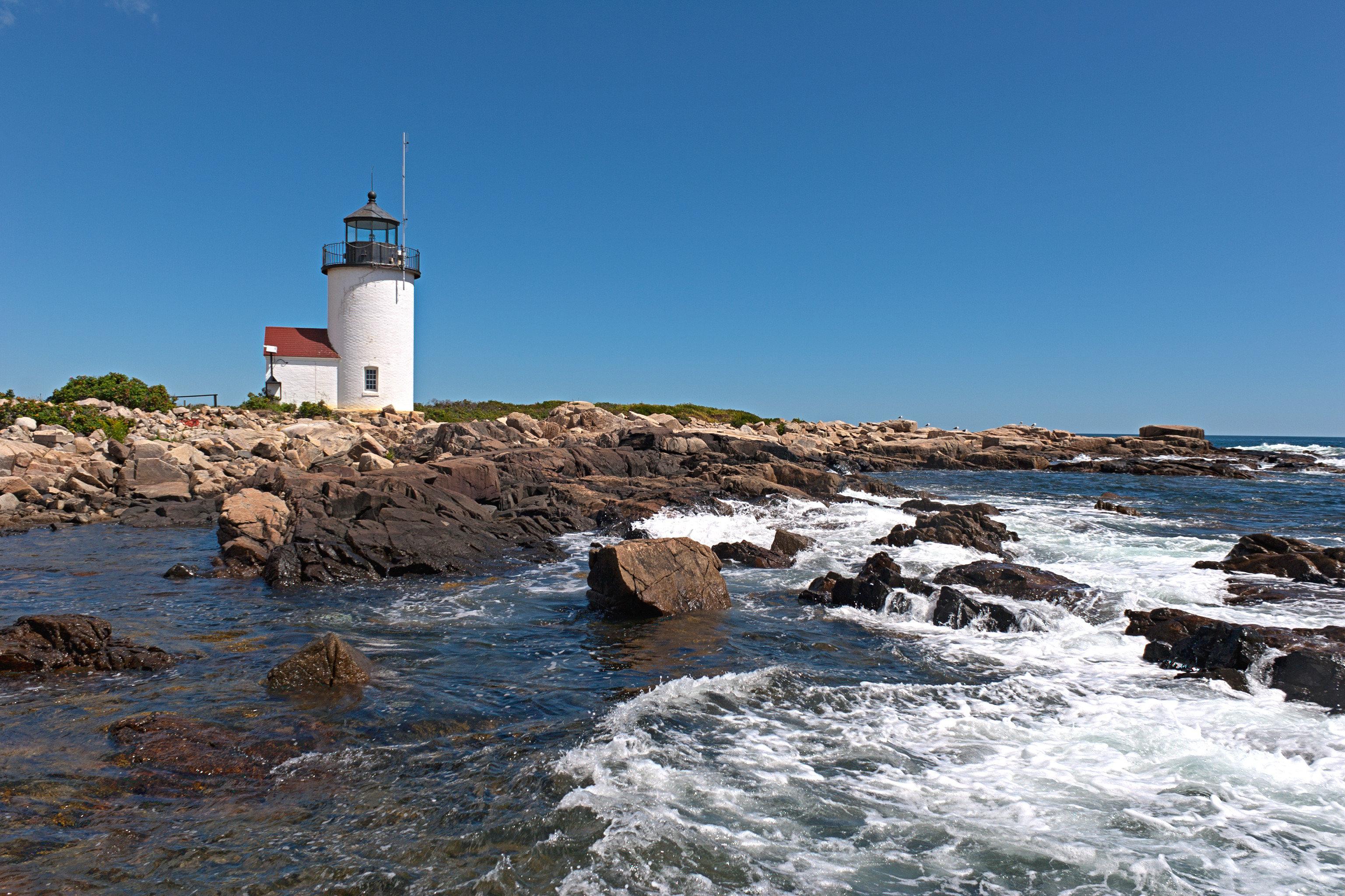 B&B Historic Waterfront sky water lighthouse tower Coast Sea shore Ocean rock wave wind wave Beach cove cape cliff terrain