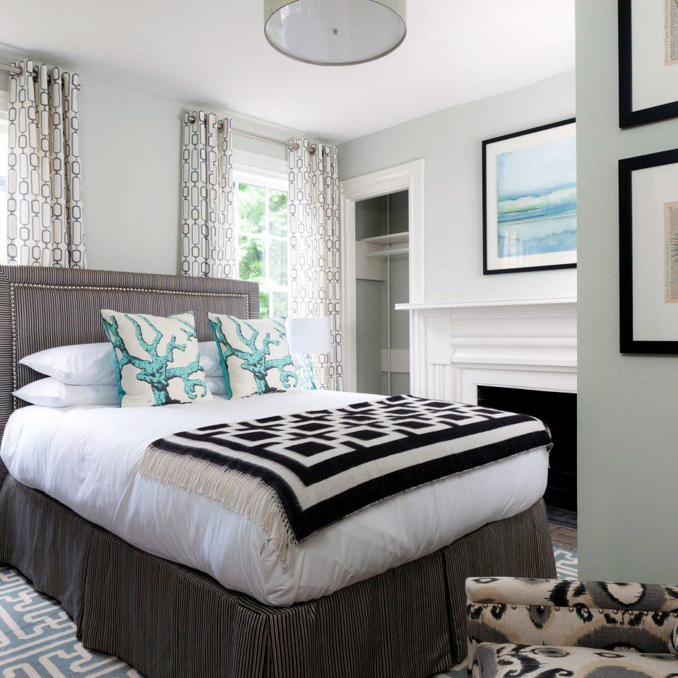 B&B Bedroom Boutique Hip property pillow home scene living room striped bed sheet cottage bed frame