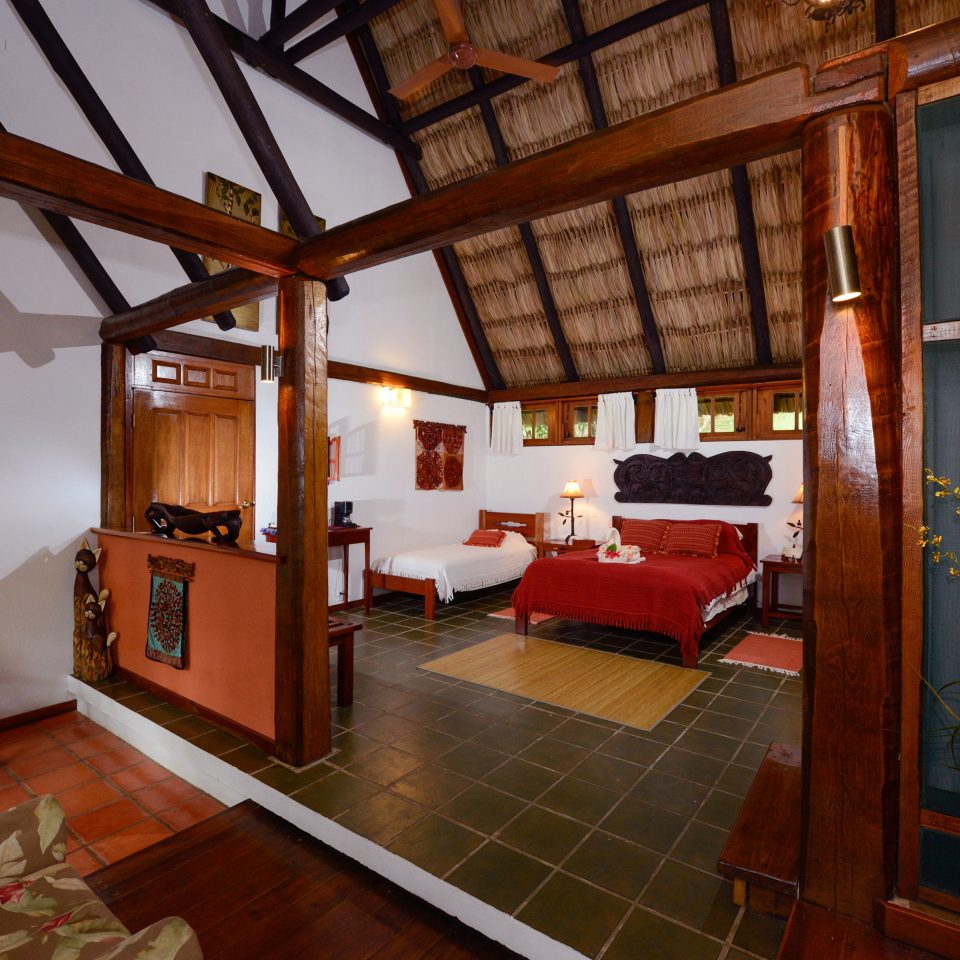 B&B Bedroom Eco Lodge Romantic Tropical property house building home living room cottage farmhouse Resort mansion Villa Lobby