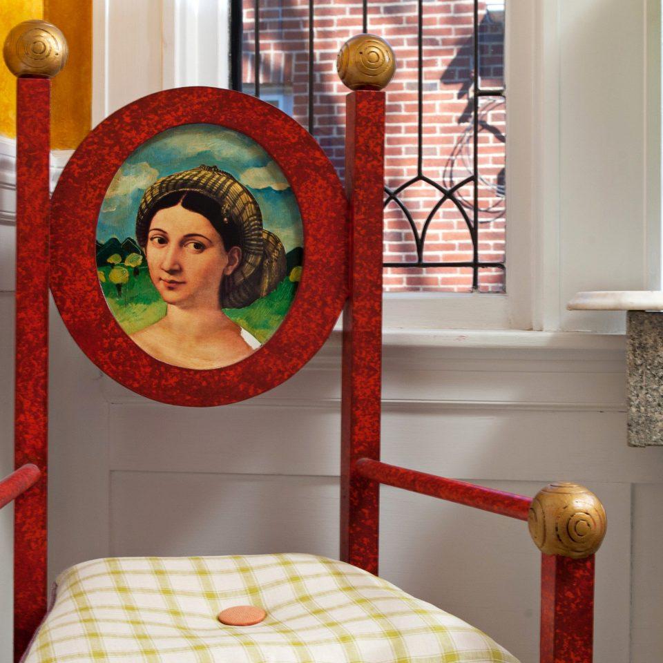 B&B Bedroom Inn color red living room art home chair seat modern art