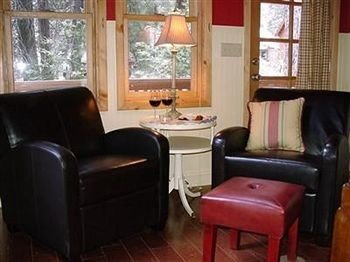 B&B Cabin Fireplace Lounge property chair living room cottage Suite home leather seat