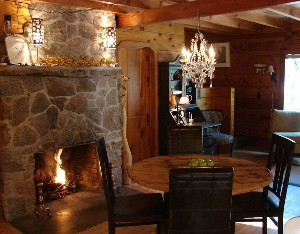 B&B Cabin Fireplace Lounge property chair fire living room cottage home lighting hearth stone