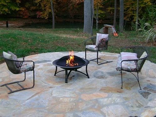 B&B Country Firepit Lounge grass tree property Patio backyard outdoor structure yard flagstone flooring lawn Courtyard material dining table