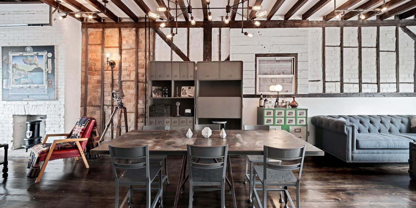 B&B Dining Eat Hip Party Rustic chair property home living room hardwood farmhouse loft cottage Kitchen flooring wood flooring