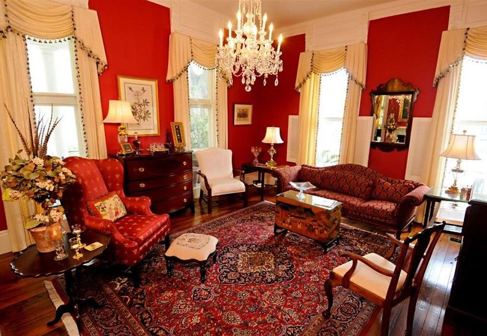 B&B Historic Lounge chair property red living room home cottage