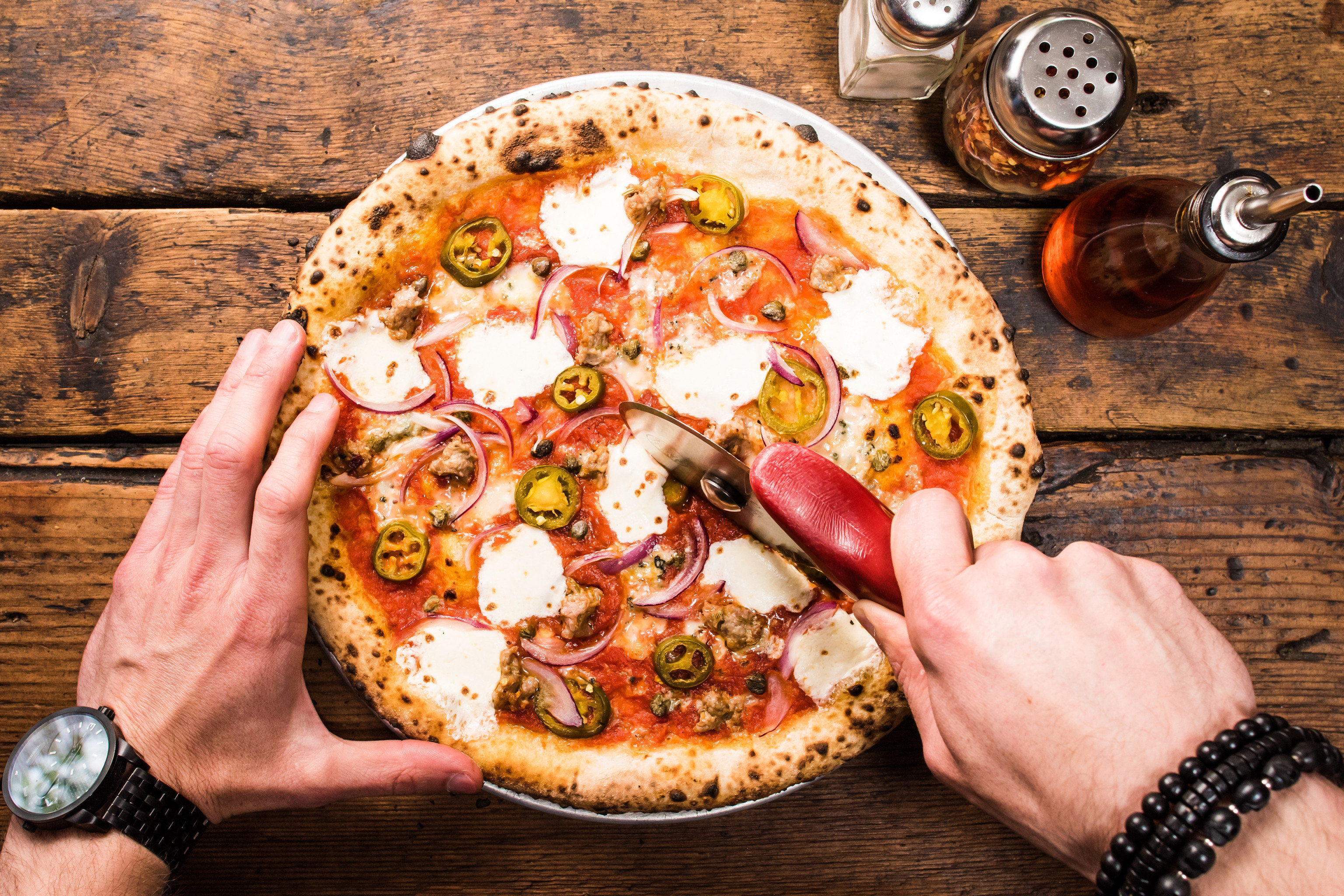 Brooklyn City Food + Drink NYC pizza dish person cuisine food italian food wooden european food pizza cheese california style pizza sicilian pizza junk food pizza stone recipe