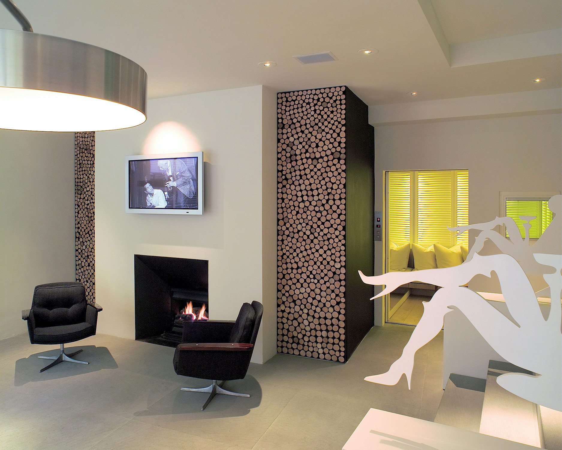 City Fireplace Florence Hotels Italy Living Lounge Modern wall indoor room property living room interior design floor condominium ceiling Design lighting home office real estate window covering Lobby apartment furniture Bedroom