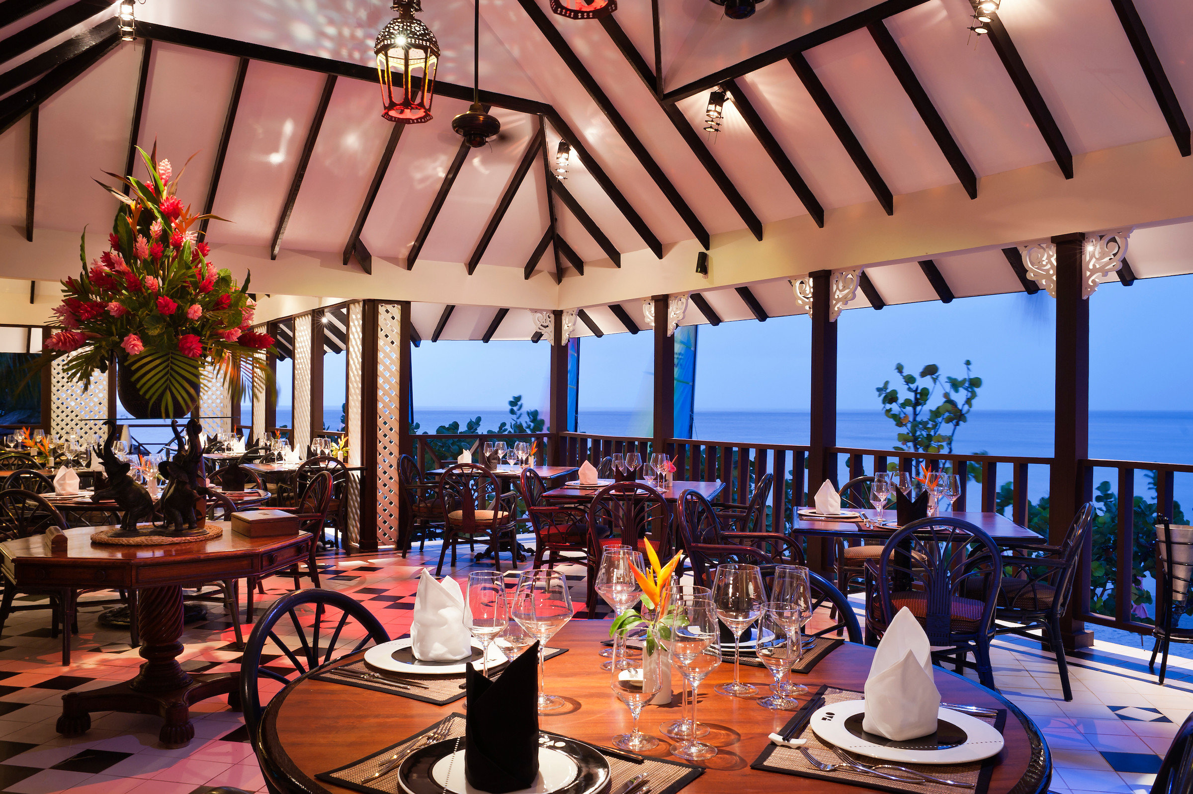 All-Inclusive Resorts caribbean table restaurant function hall Resort leisure Dining tourism vacation ceremony recreation dining room dining table