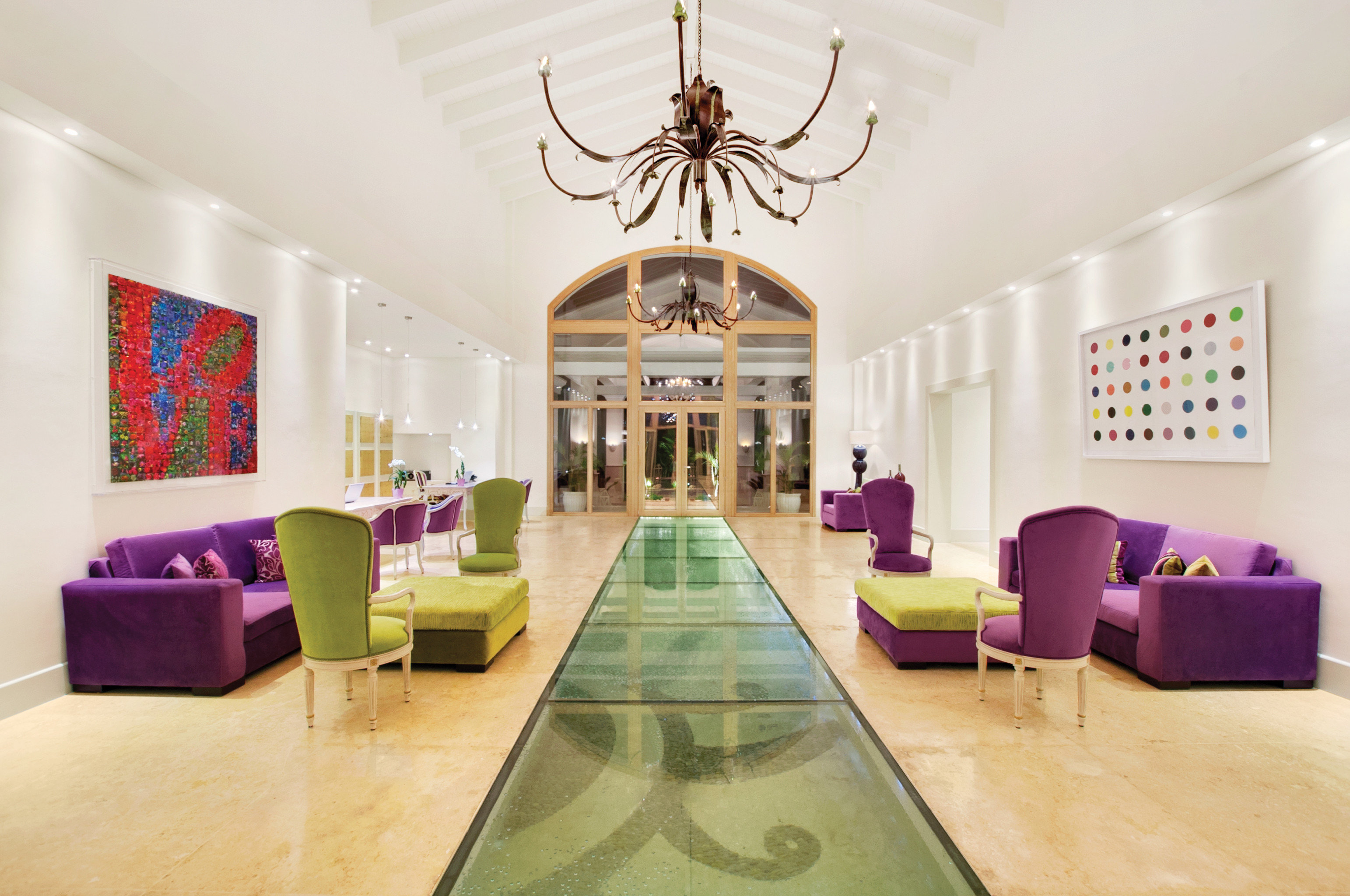 Hip Hotels Living Lobby Lounge Modern Tropical indoor wall floor room ceiling property living room estate dining room home interior design furniture mansion real estate Design Villa apartment area decorated