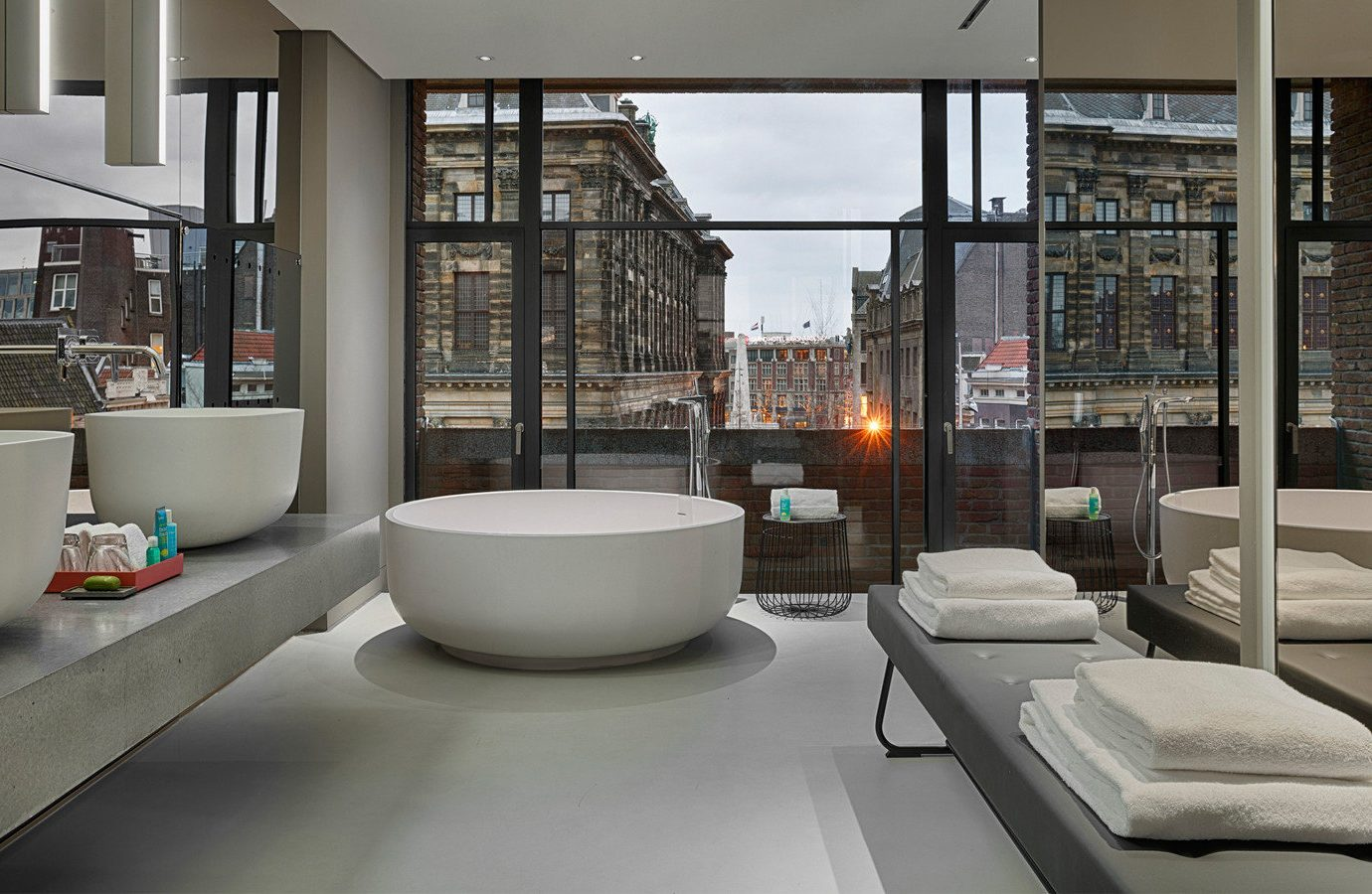 Amsterdam Hotels The Netherlands indoor window floor Architecture room interior design loft furniture Modern