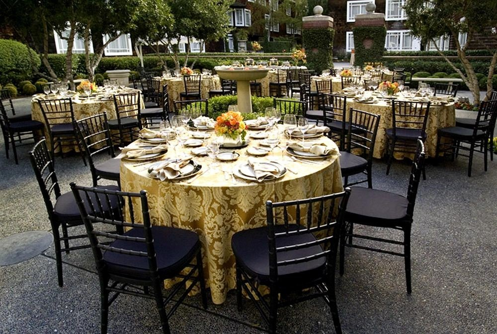 chair restaurant banquet backyard rehearsal dinner set dining table