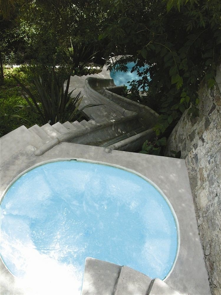 tree swimming pool water backyard pond bathtub stone