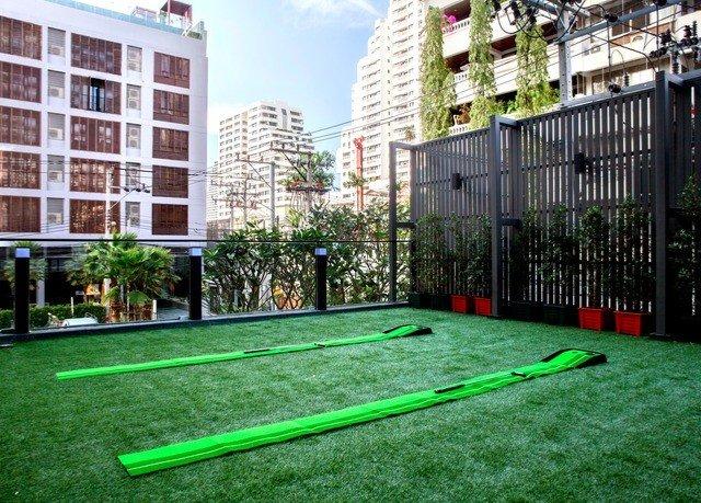 grass building green lawn neighbourhood residential area condominium backyard