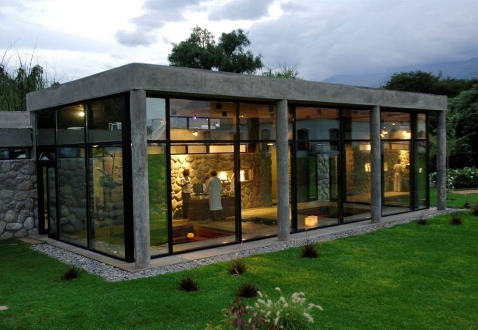 grass sky property building house home outdoor structure log cabin orangery pavilion cottage backyard shed