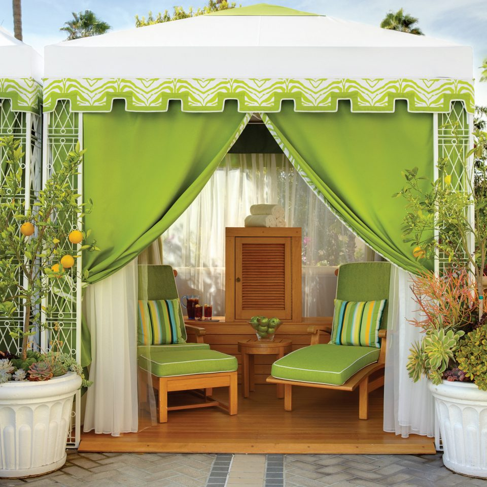 gazebo green porch outdoor structure backyard tent cottage plant