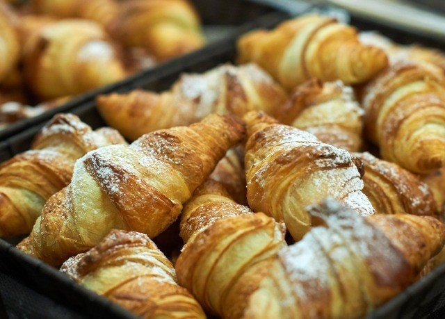 food pastry doughnut dessert baked goods rugelach croissant bakery tray bread viennoiserie danish pastry baking breakfast cuisine baked displayed