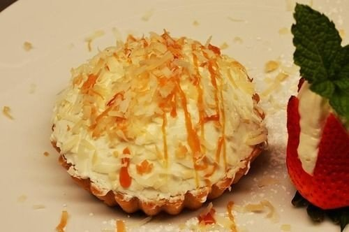 food plate dessert land plant cuisine baked goods slice flowering plant coconut