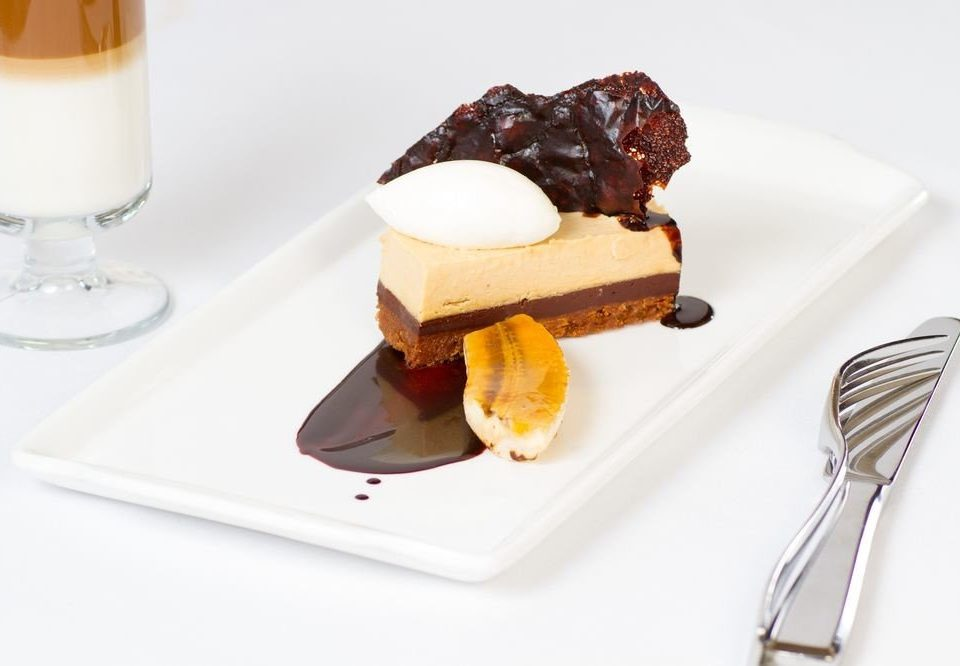 plate food dessert breakfast piece slice pastry chocolate ice cream flavor baking