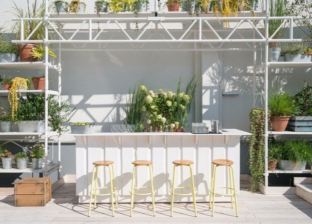 Balcony outdoor structure floristry white goods backyard orangery porch