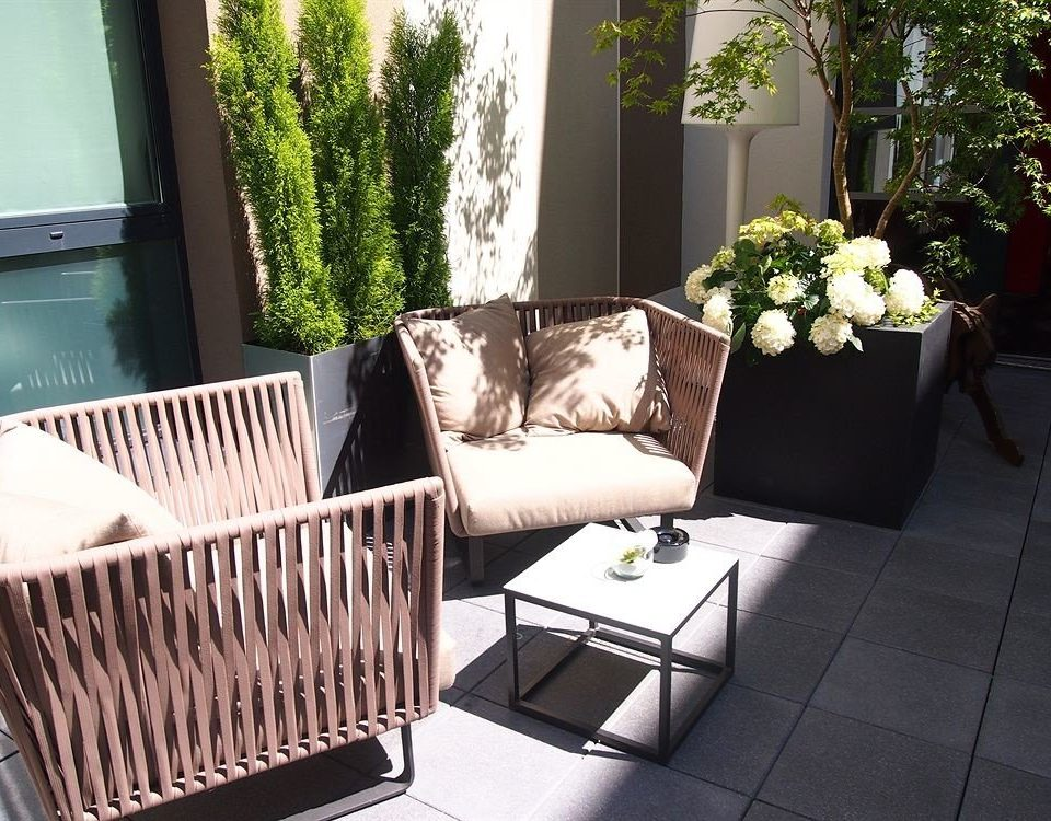 product living room outdoor structure Balcony home porch backyard wicker studio couch plant