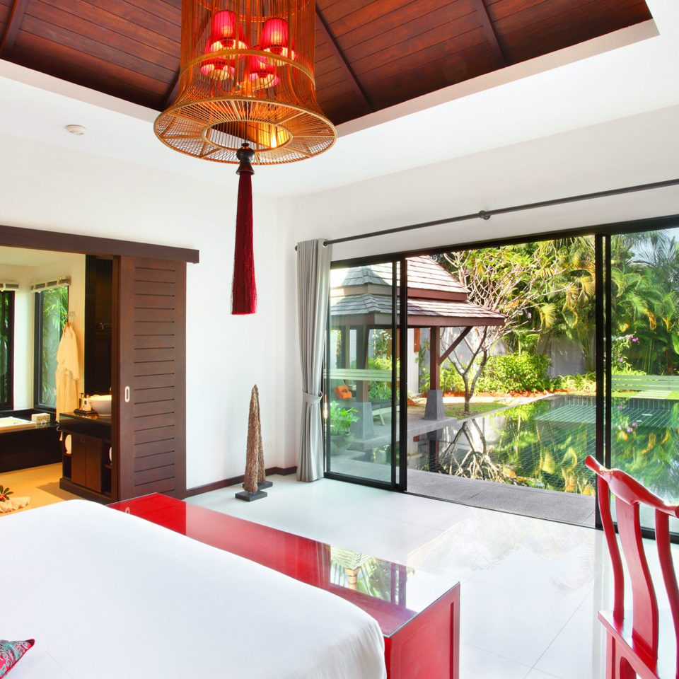 Balcony Bath Bedroom Cultural Elegant Jungle Patio Pool Romantic Suite Tropical Villa property red house home Resort cottage hacienda restaurant