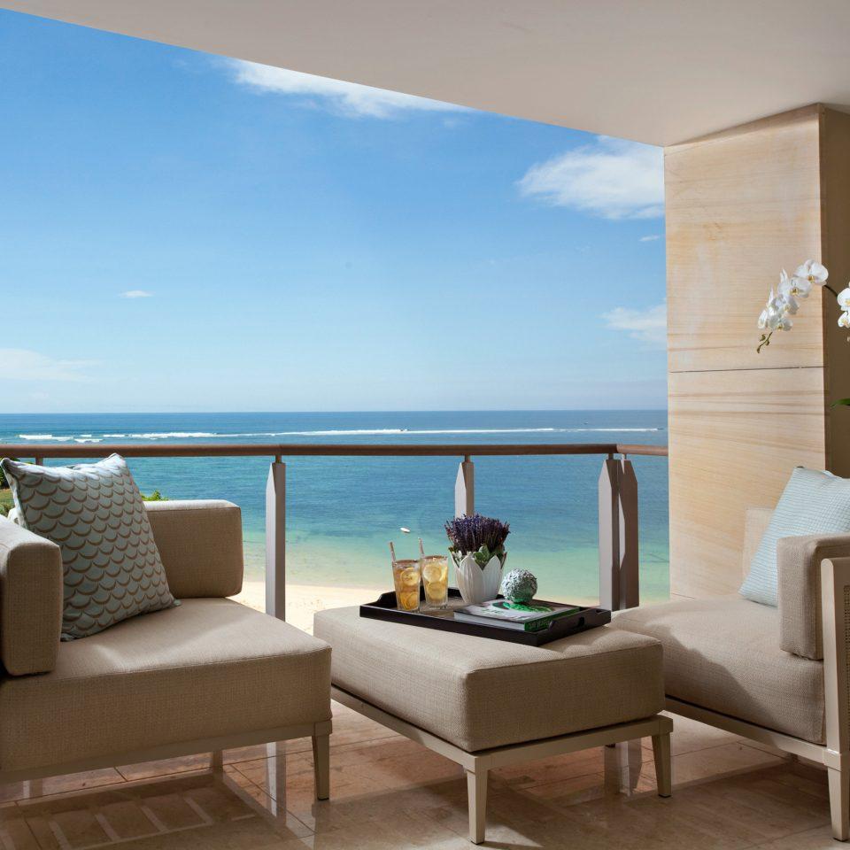 Balcony Beach Beachfront Luxury Resort Romantic property living room Villa condominium home Suite cottage