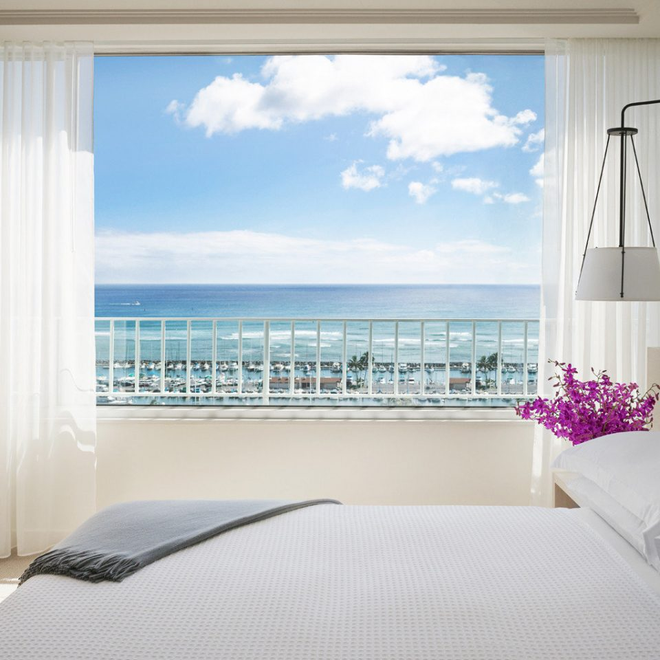 Balcony Beachfront Bedroom Island Modern Romantic Scenic views Waterfront property white cottage Suite