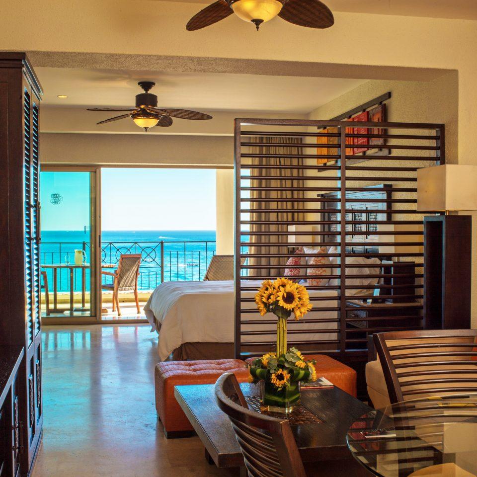 Balcony Beachfront Bedroom Luxury Modern Resort Scenic views Suite property home living room lighting restaurant
