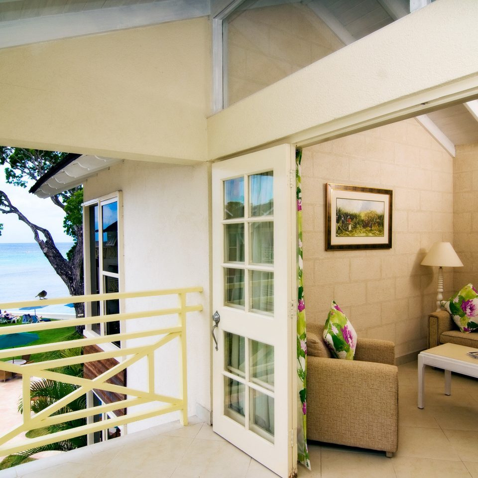 Balcony Beachfront Deck Modern property home living room condominium