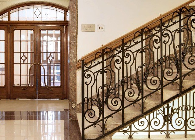 handrail iron building property baluster gate Balcony hardwood metal material stairs Bedroom tiled