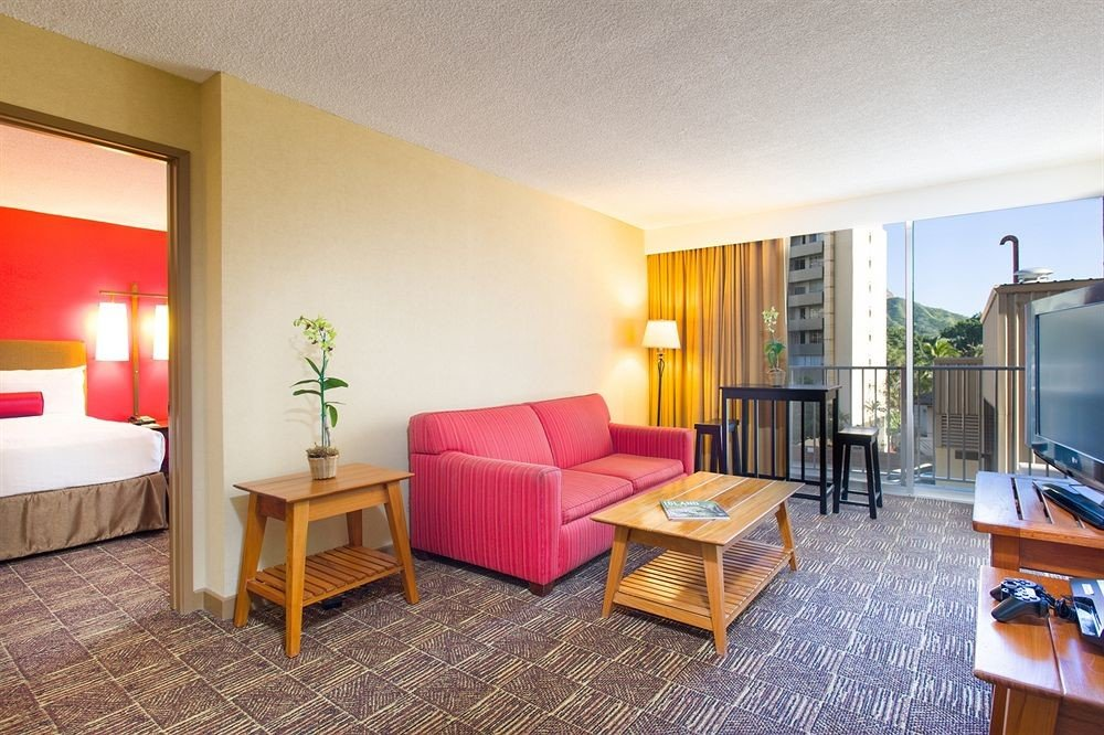 Balcony Bedroom Classic Resort property Suite condominium living room Villa cottage containing