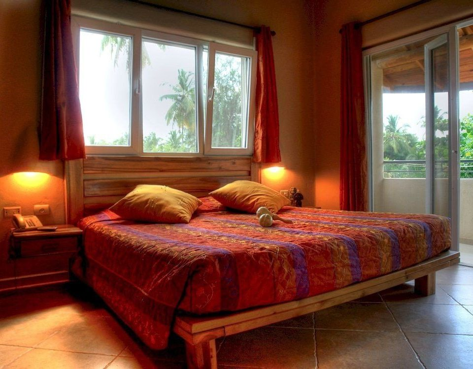 Balcony Bedroom Country Patio Suite Tropical property cottage hardwood bed sheet living room