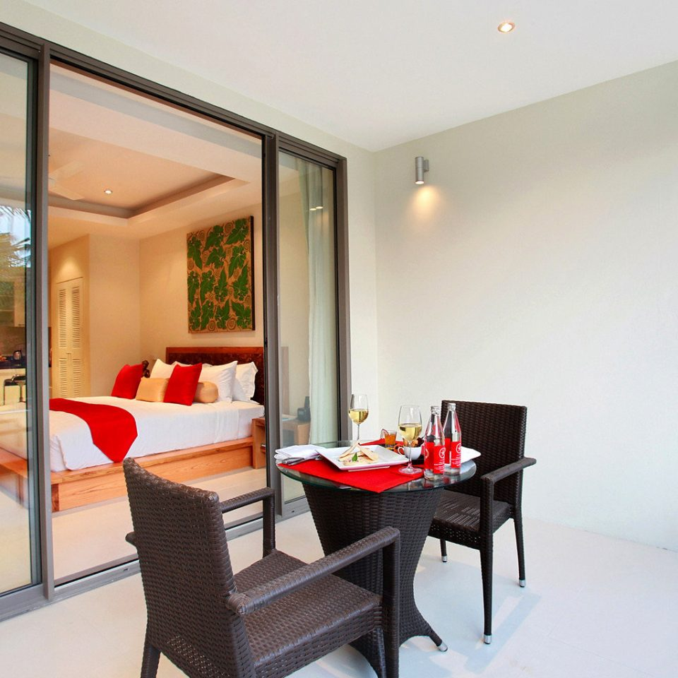 Balcony Bedroom Hip Island Tropical property condominium home living room Suite Villa cottage
