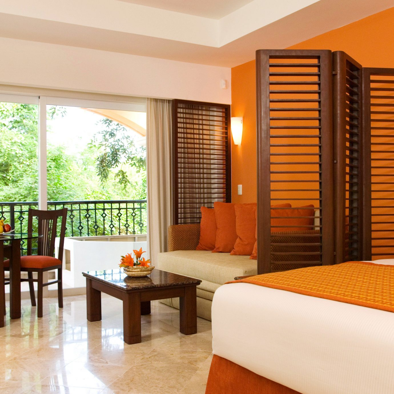 Balcony Bedroom Hip Luxury Modern Scenic views Suite property condominium Resort Villa living room