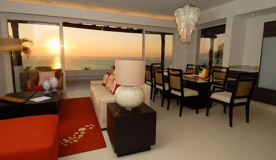 Balcony Lounge Suite Sunset Tropical property chair living room condominium Lobby Villa restaurant Bedroom