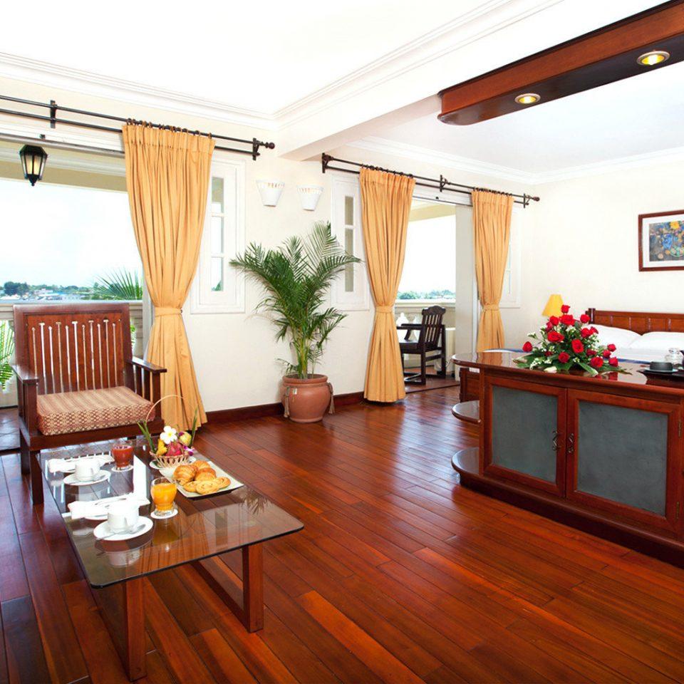 Balcony Bedroom Lounge Scenic views Suite Tropical property home hardwood cottage living room Villa Resort wood flooring condominium farmhouse hard