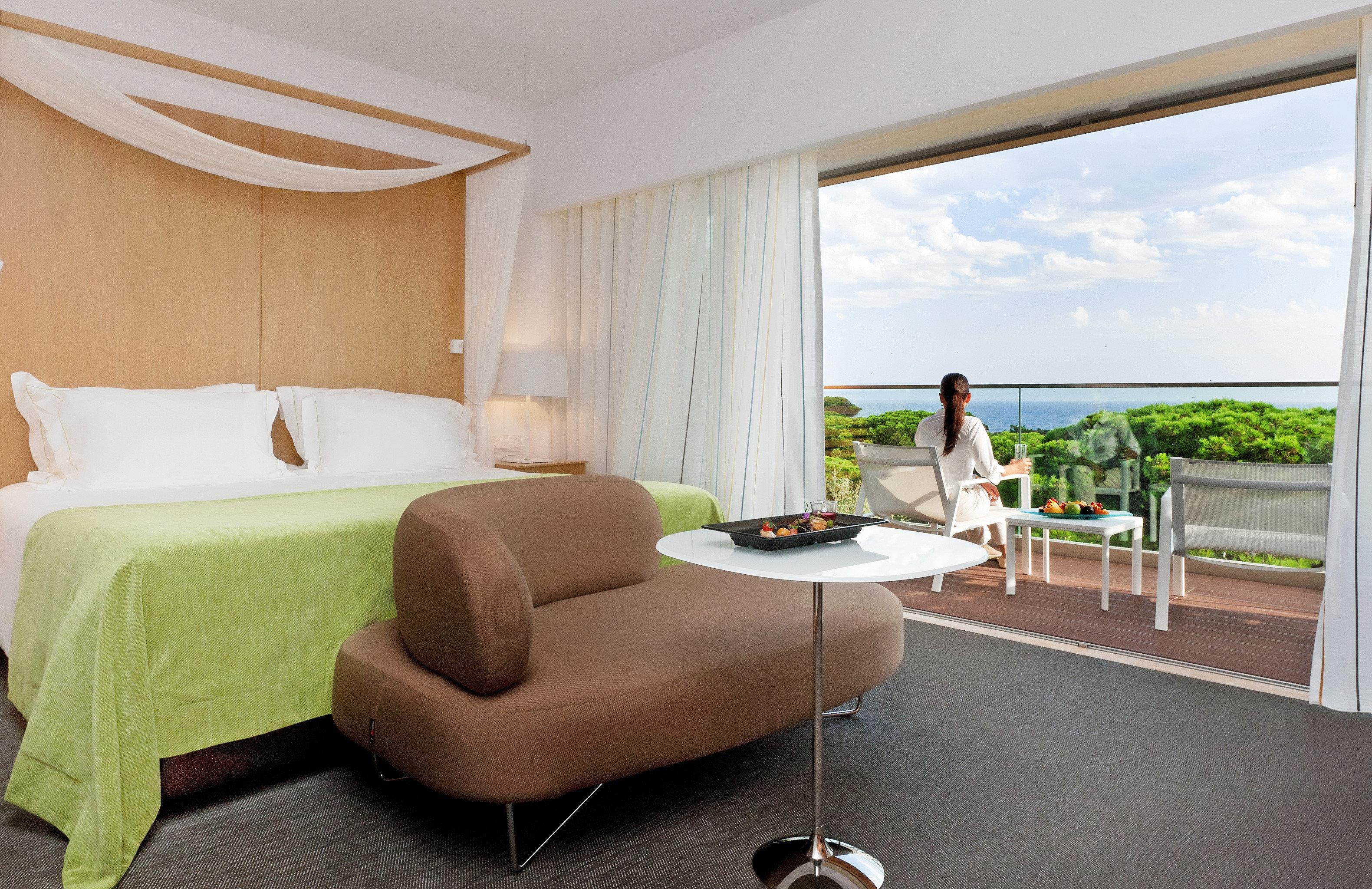 Balcony Bedroom Luxury Scenic views Suite Tropical property living room home cottage condominium Villa