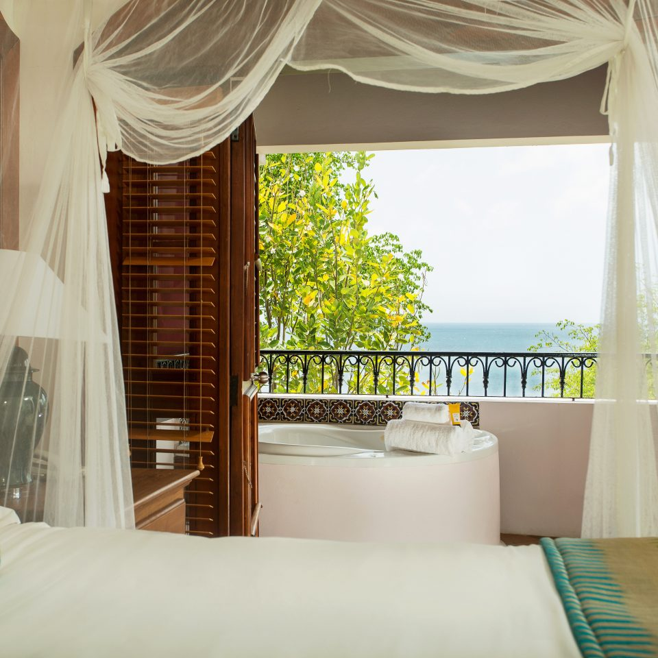 Balcony Bedroom Modern Patio Resort Scenic views Villa property home living room Suite curtain cottage window treatment