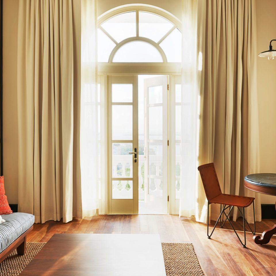 Balcony Bedroom Modern home living room hardwood curtain window treatment flooring textile wood flooring Suite