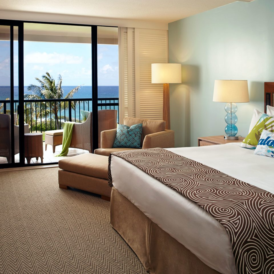 Balcony Bedroom Ocean Scenic views Suite Tropical sofa property home condominium living room cottage nice bed sheet flat