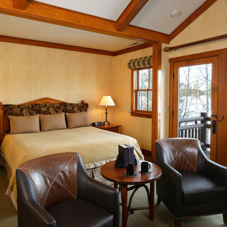 Balcony Bedroom Resort Rustic property living room home Suite cottage hardwood