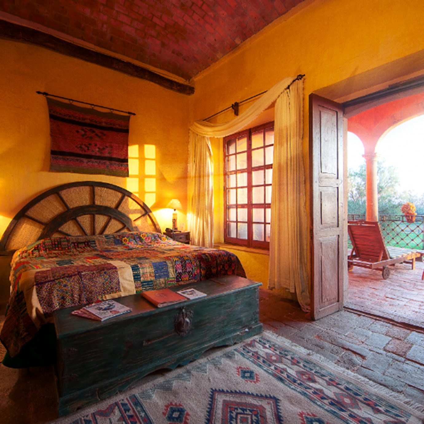 Balcony Bedroom Romantic Rustic house property building home living room cottage mansion Villa hacienda farmhouse