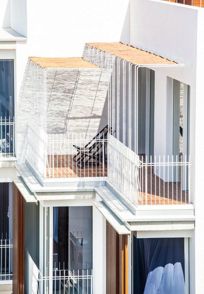 building property Balcony house siding home sash window condominium porch